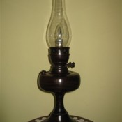 Oil Lamp in mahogany by Don Bennett