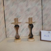 Decorated Candle sticks by Mick Heslop
